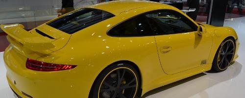 TechArt Porsche 911 op de Auto Beurs van Genève.